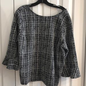 Talbot 2XP petite black and white tunic EUC